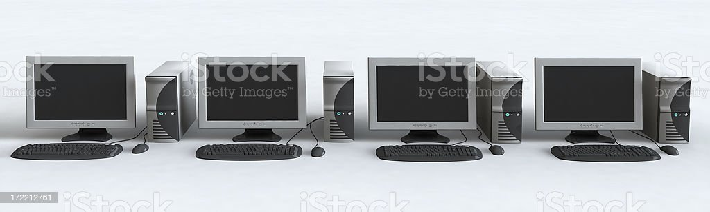 Computer Lab royalty-free stock photo