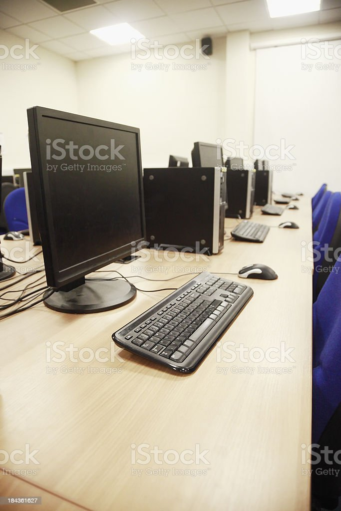 Computer Lab royalty-free stock photo