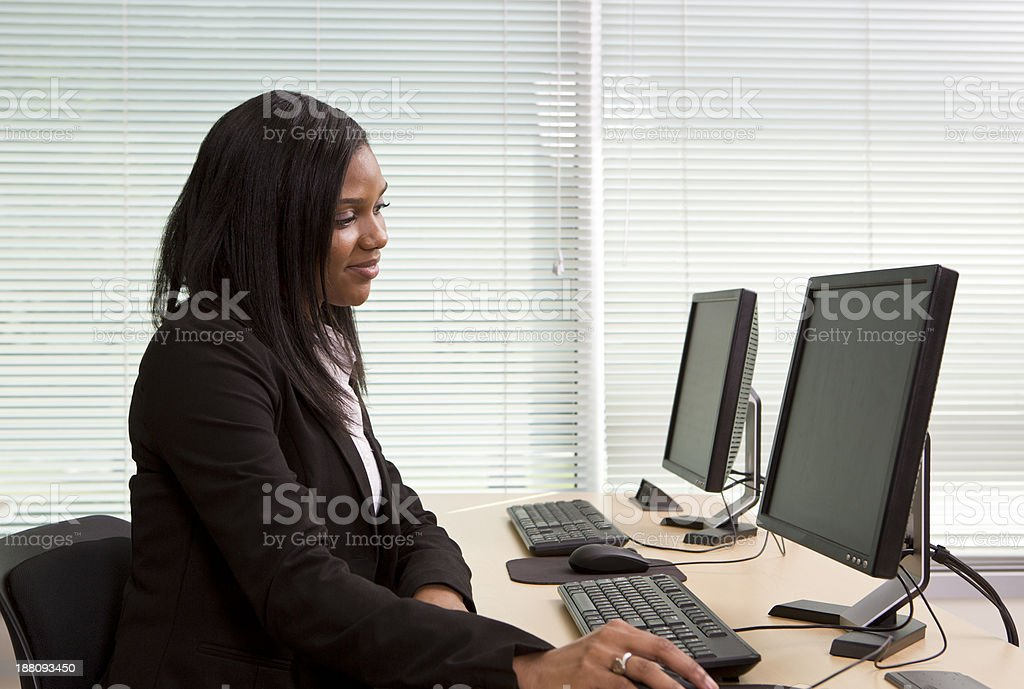 Computer Lab stock photo