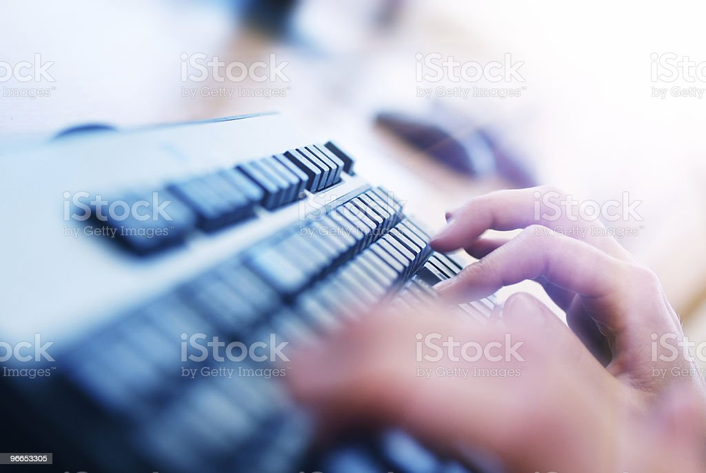 Computer lab. royalty-free stock photo