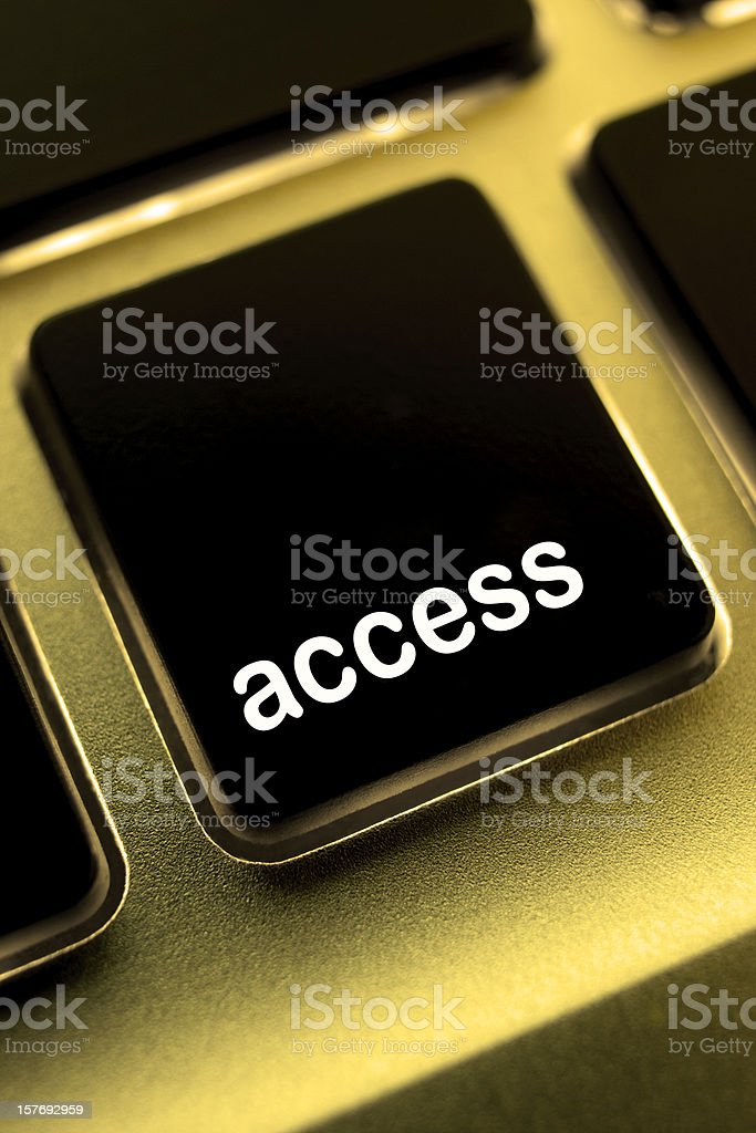 Computer laptop keypad 'access' button. royalty-free stock photo