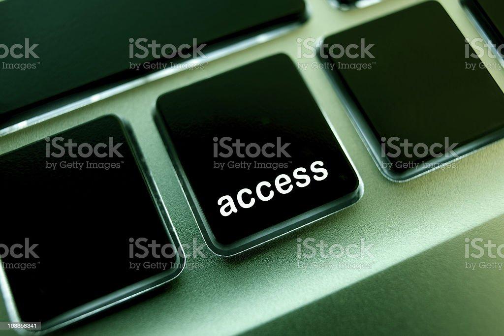 Computer laptop keypad 'access' button. stock photo