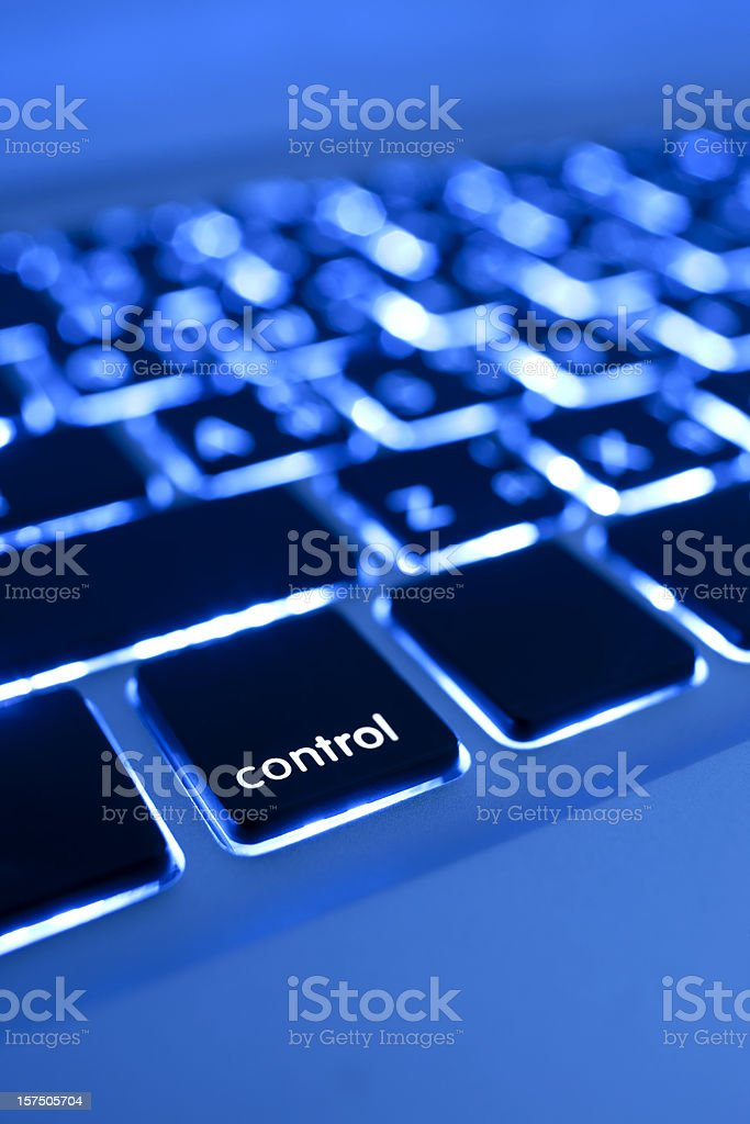 Computer laptop keypad 'control' button. royalty-free stock photo