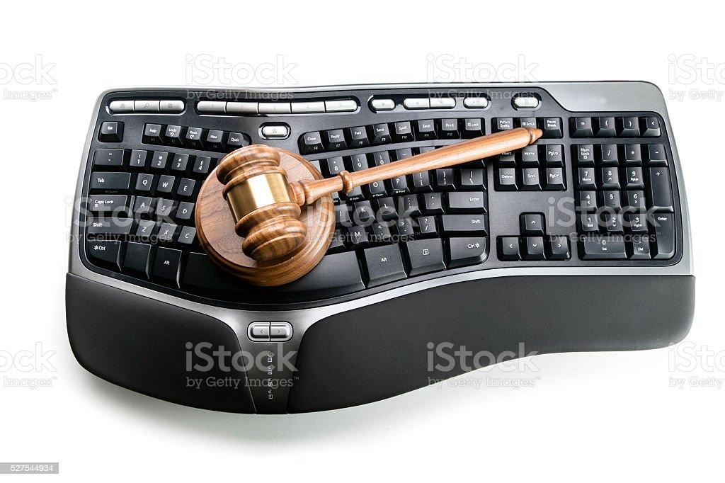 Computer Laws & Crimes stock photo