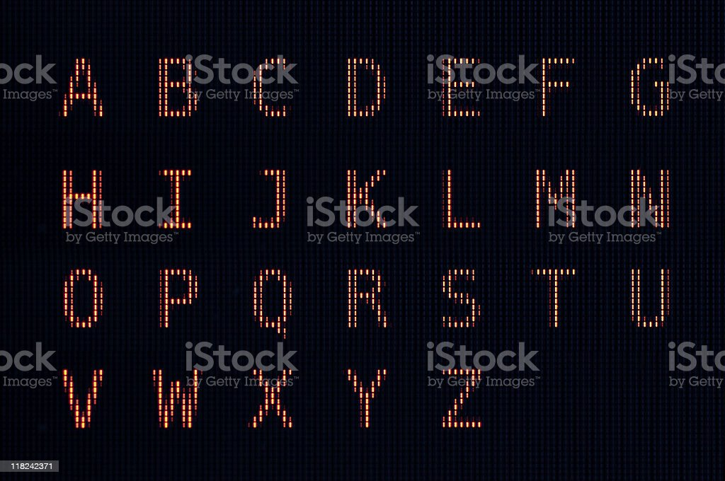 Computer LCD Font stock photo