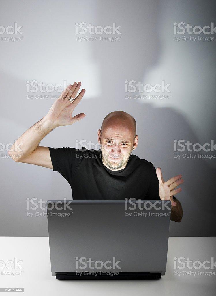 Computer Madness stock photo