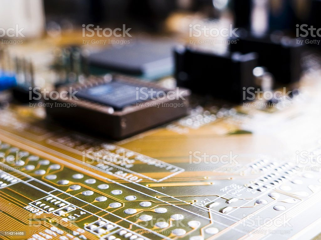 Computer main board royalty-free stock photo