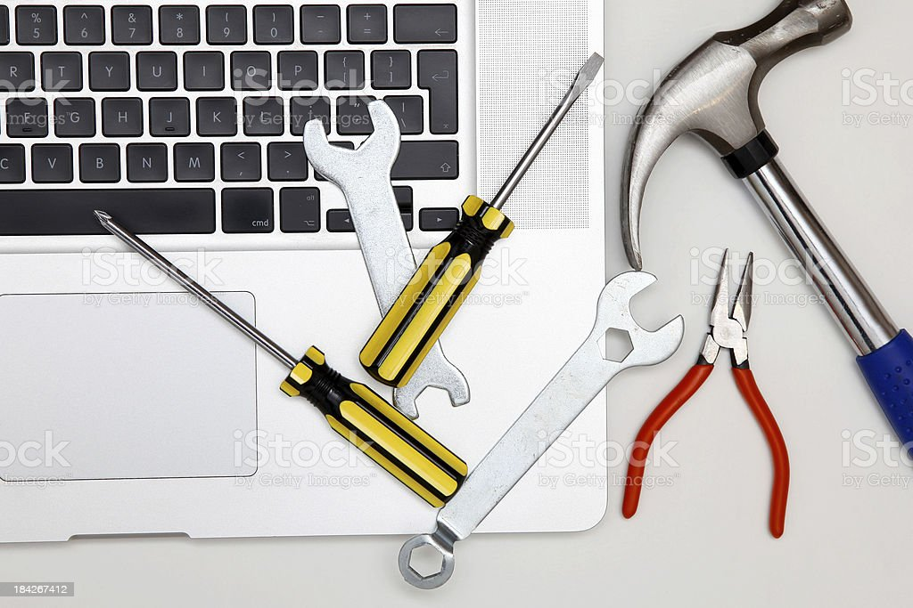 Computer maintenance royalty-free stock photo