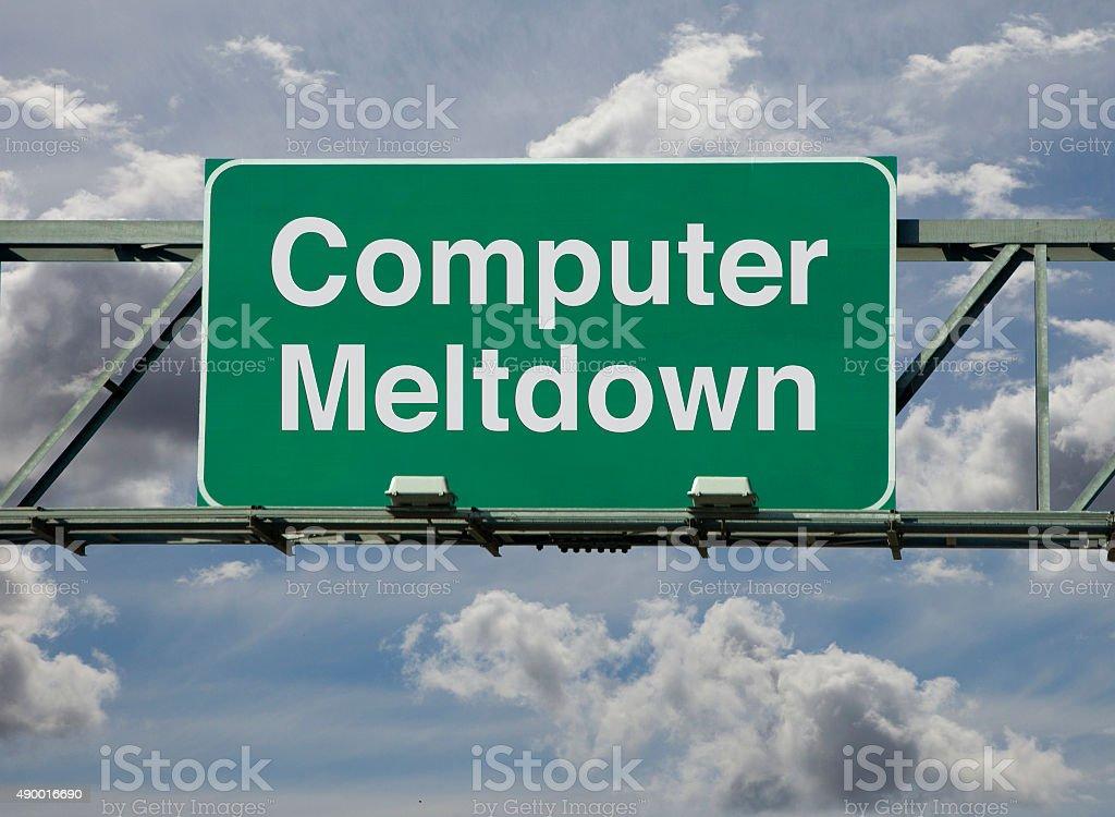 Computer meltdown stock photo