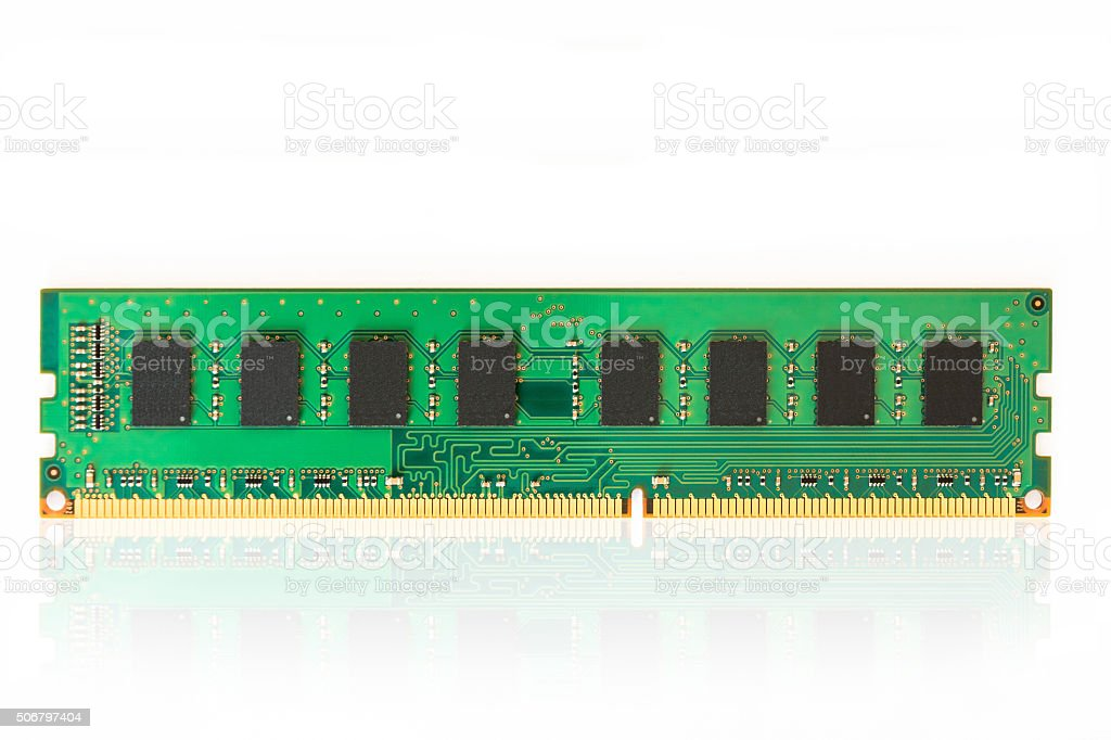 Computer memory chips stock photo
