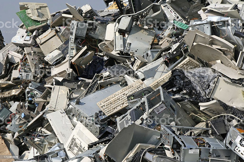 Computer, metal and iron dump # 11 stock photo