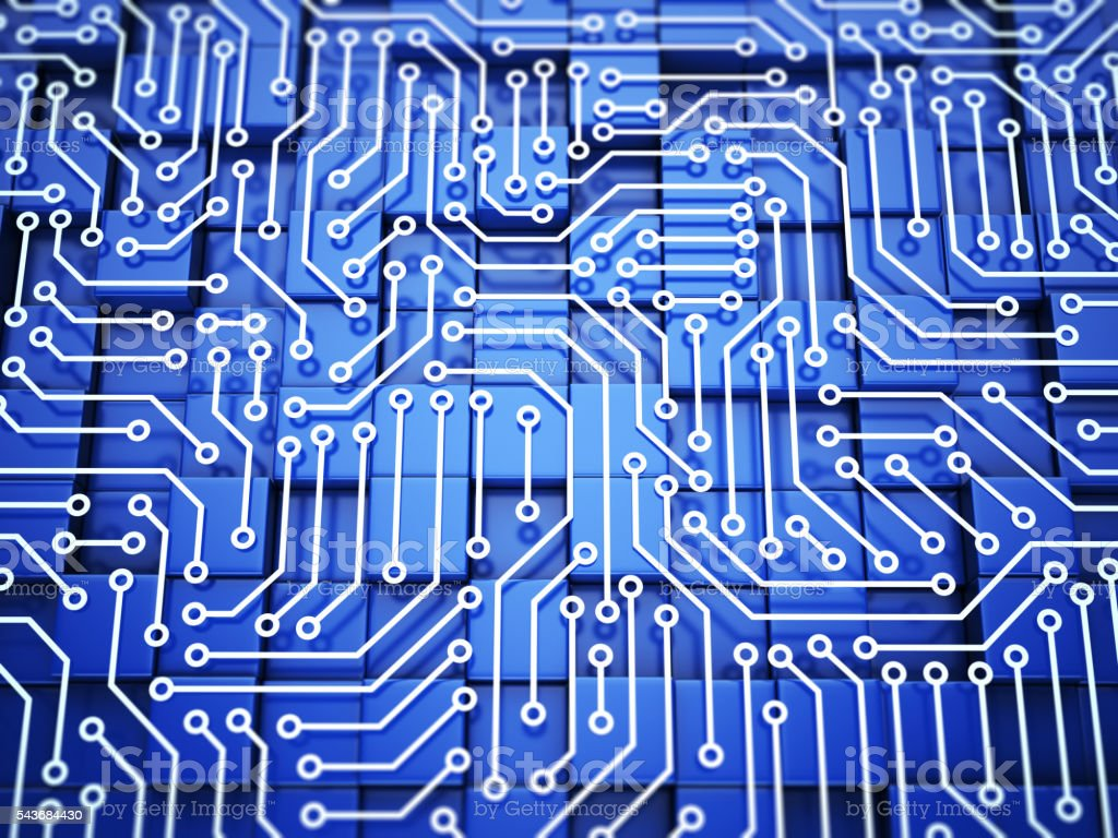 Computer microcircuit concept stock photo