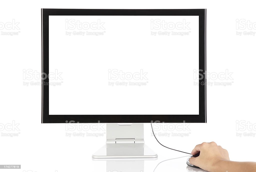Computer monitor display blank screen -XXXL royalty-free stock photo