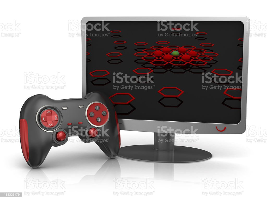 Computer Monitor - Leisure Games royalty-free stock photo