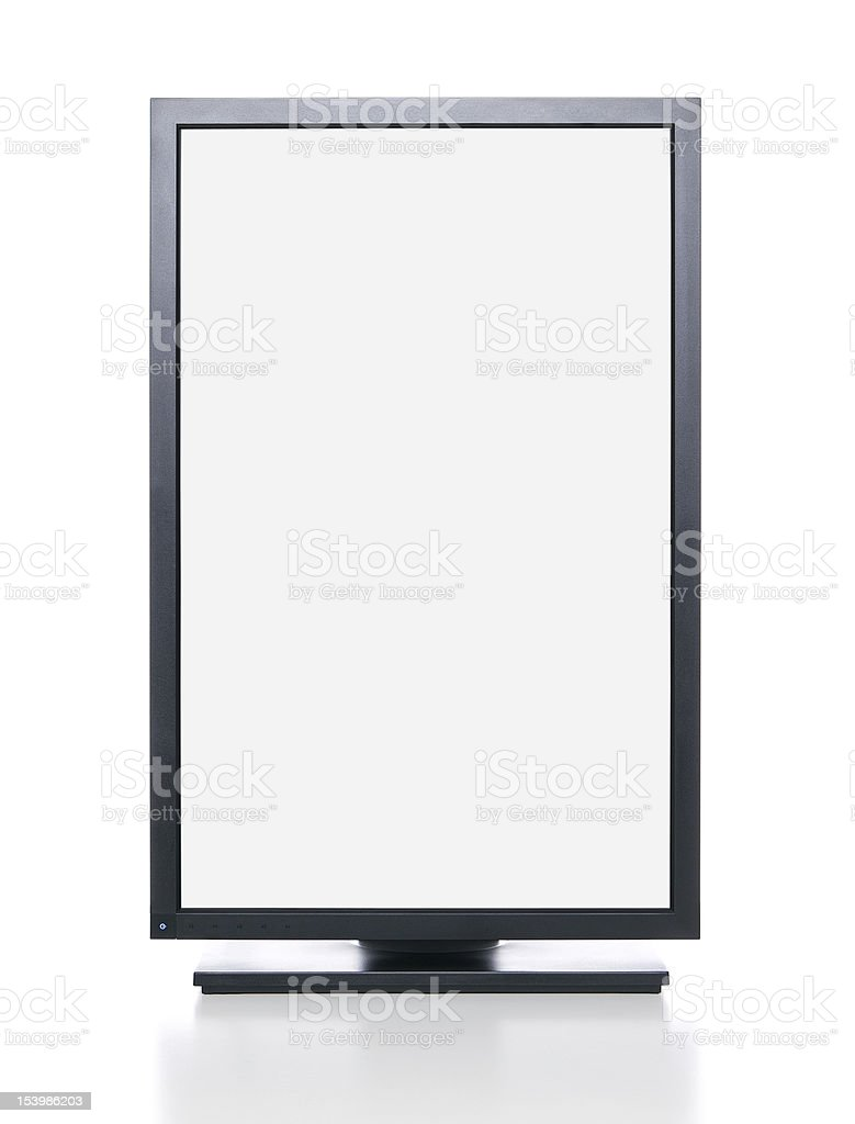 Computer monitor with clipping path royalty-free stock photo