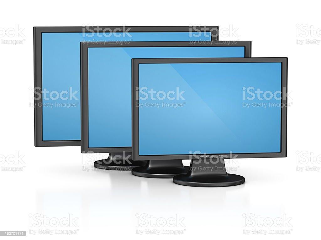 computer monitors royalty-free stock photo