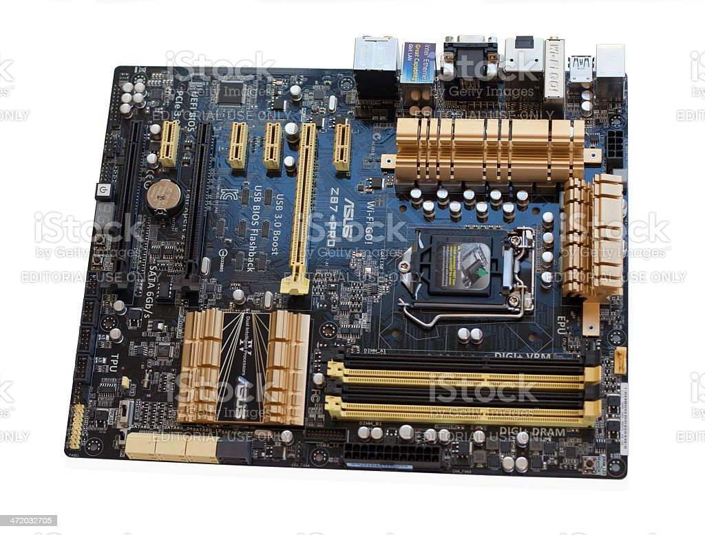 Computer Motherboard by ASUS stock photo