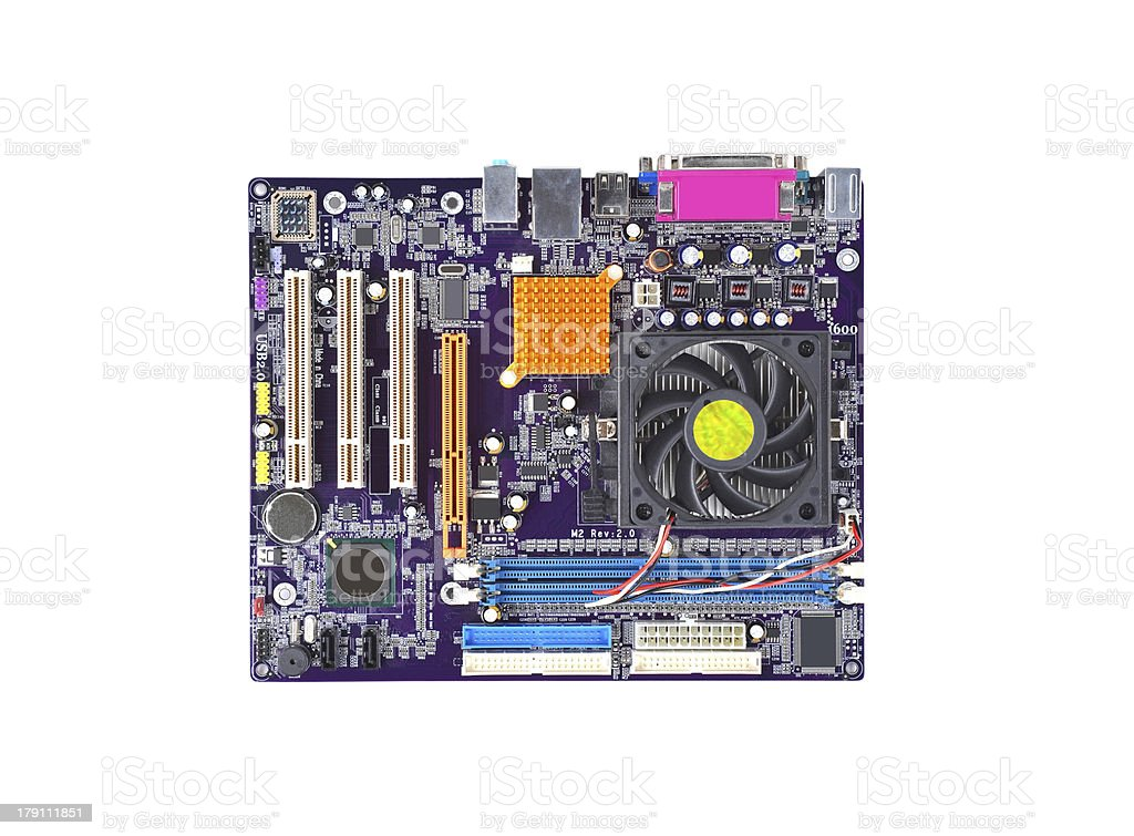 Computer motherboard royalty-free stock photo