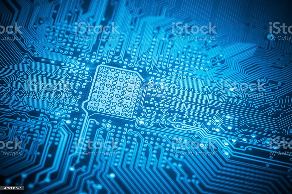 computer motherboard stock photo