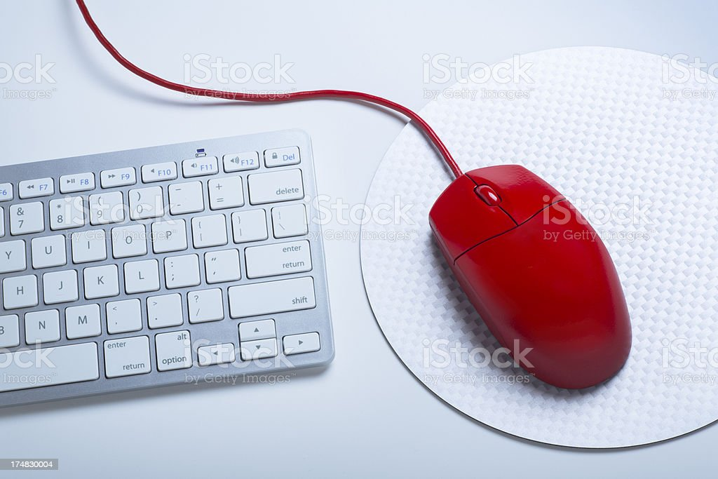 Computer Mouse and Keyboard stock photo