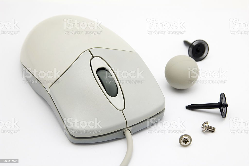 Computer mouse and spares stock photo