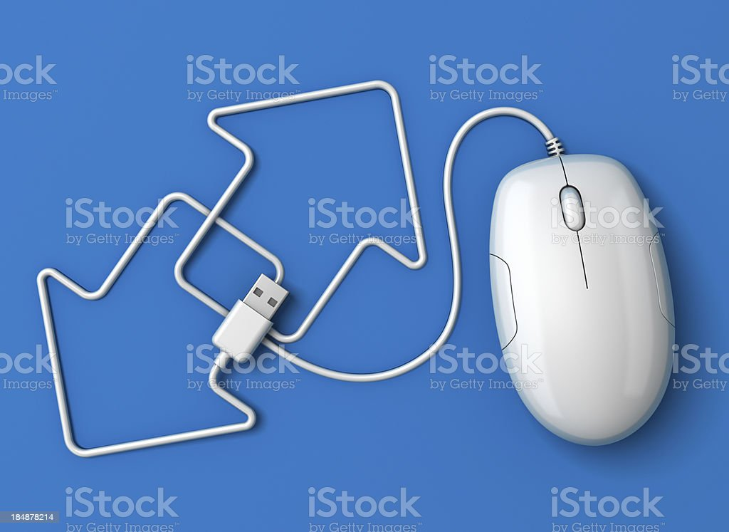 Computer mouse arrows blue stock photo