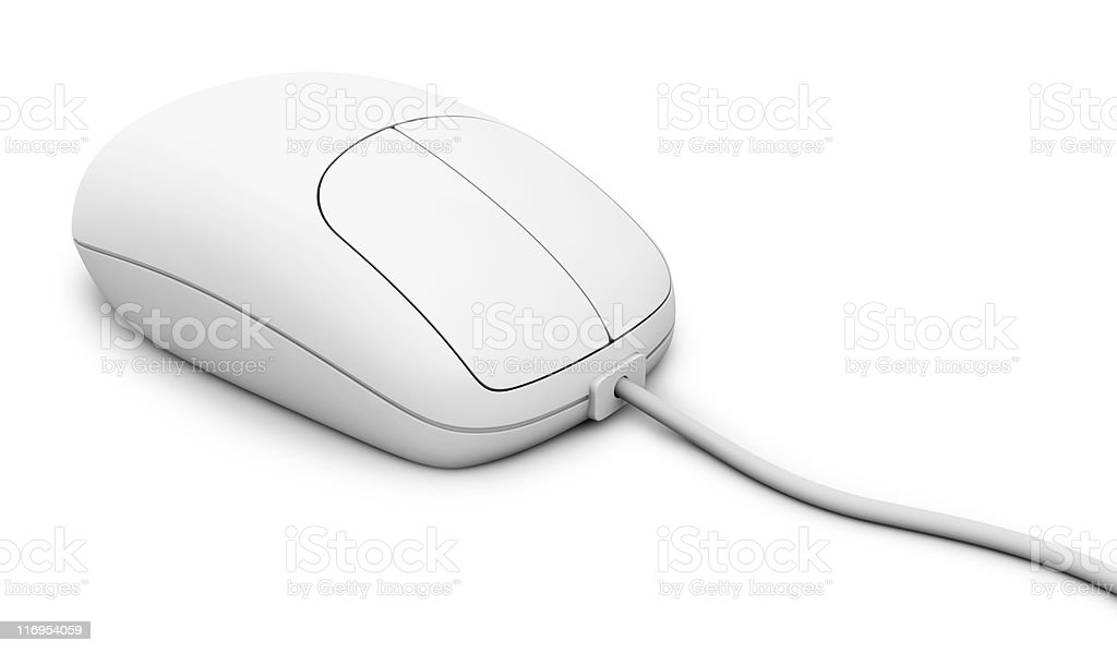 Computer mouse - clipping path royalty-free stock photo