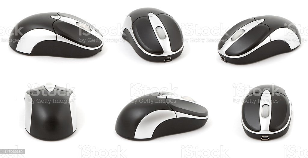 computer mouse on white stock photo