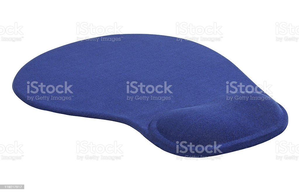 Computer mouse pad with a silicone pillow stock photo