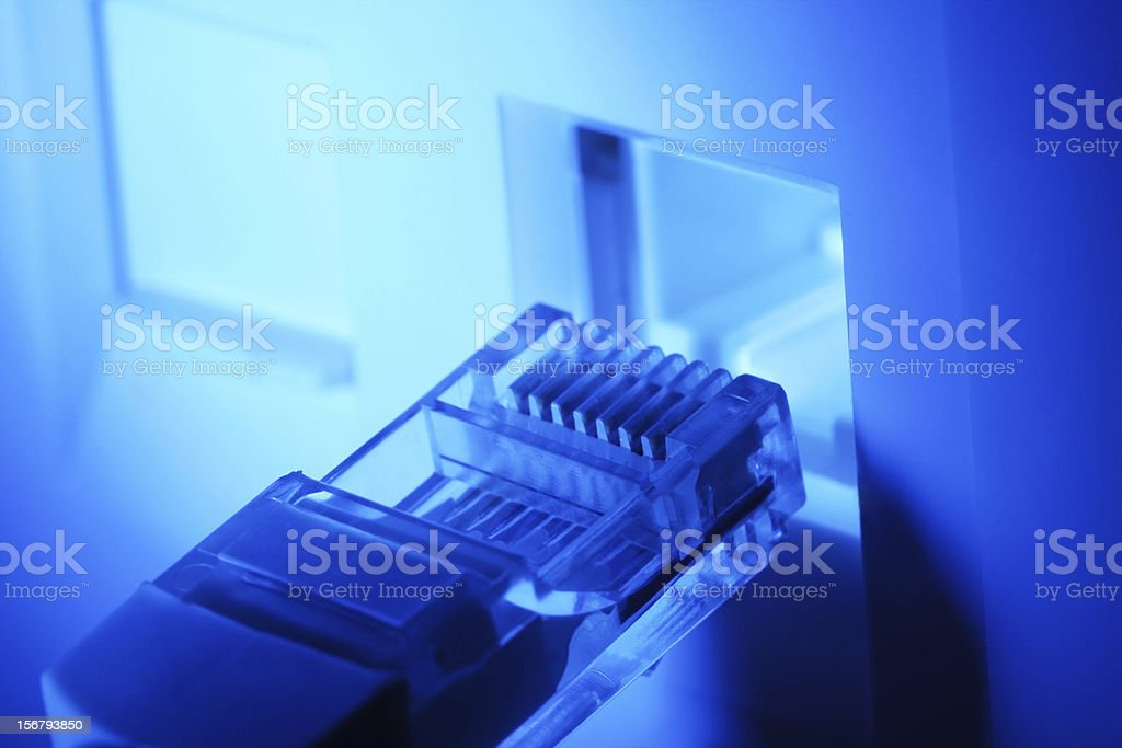 computer network cable royalty-free stock photo