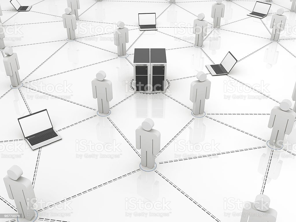 Computer Network Concept royalty-free stock photo