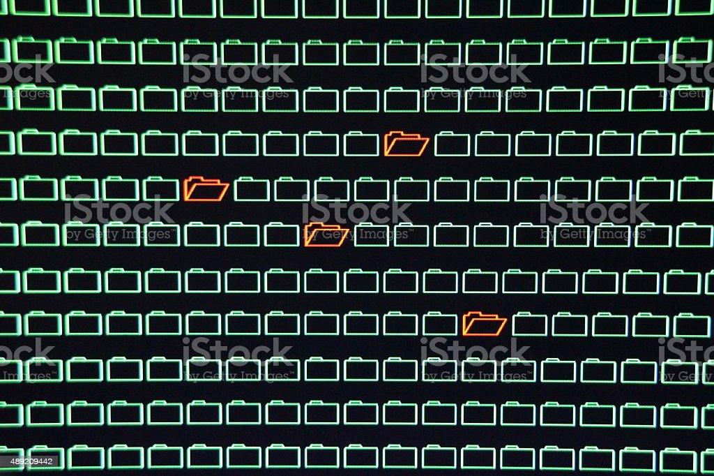 Computer Network Data Theft stock photo