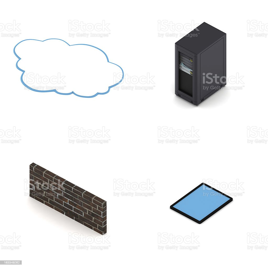 Computer network elements royalty-free stock photo