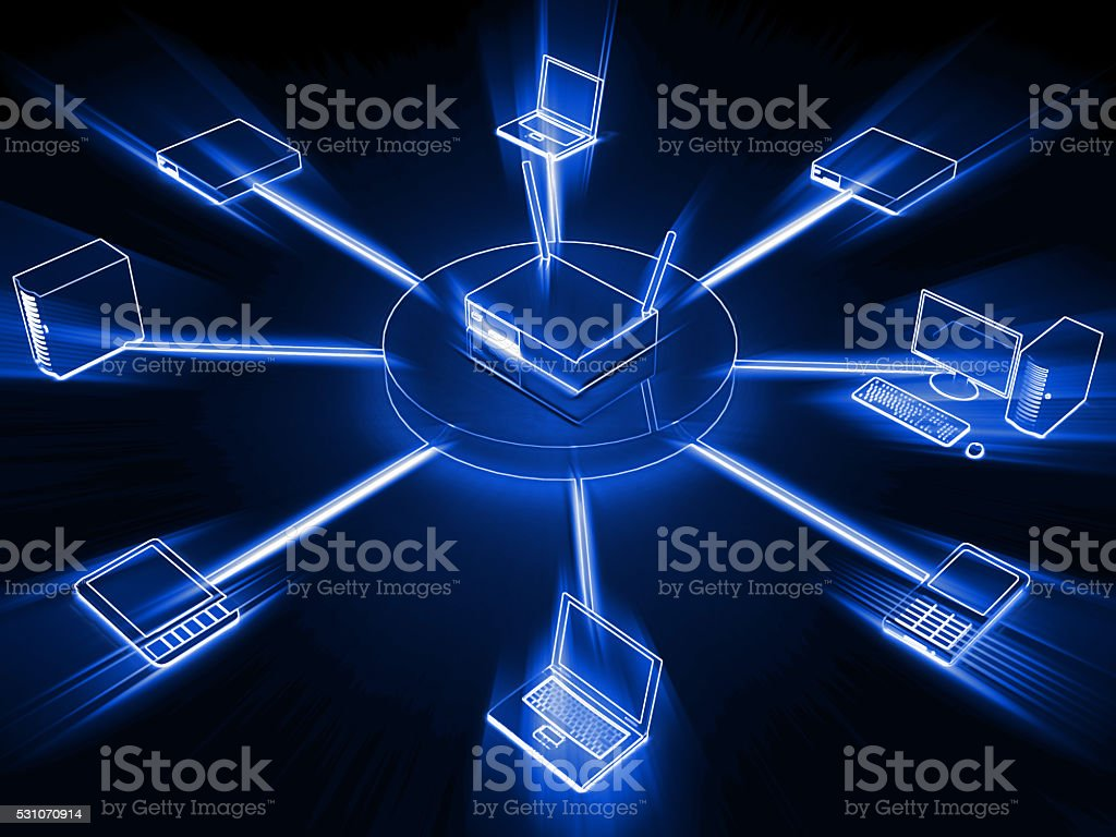 Computer network server cloud computing concept stock photo