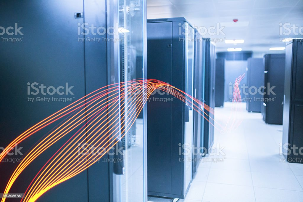 computer network server room stock photo