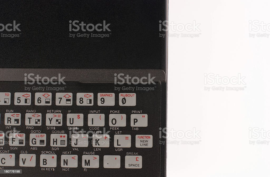 Computer of the 80s royalty-free stock photo