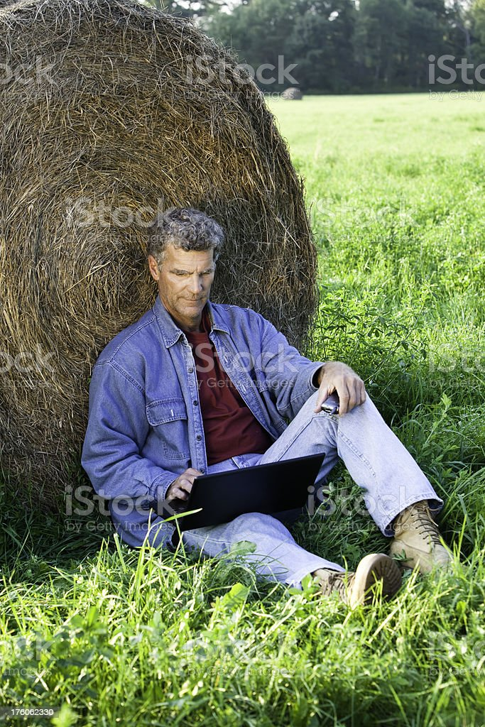 Computer on the Farm royalty-free stock photo