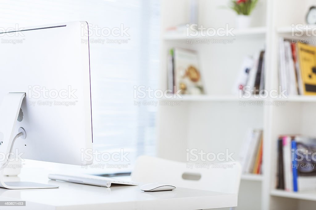 computer on the office table royalty-free stock photo