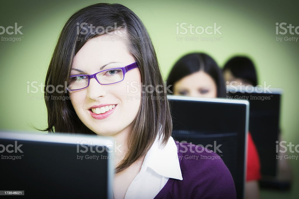 Computer operators royalty-free stock photo