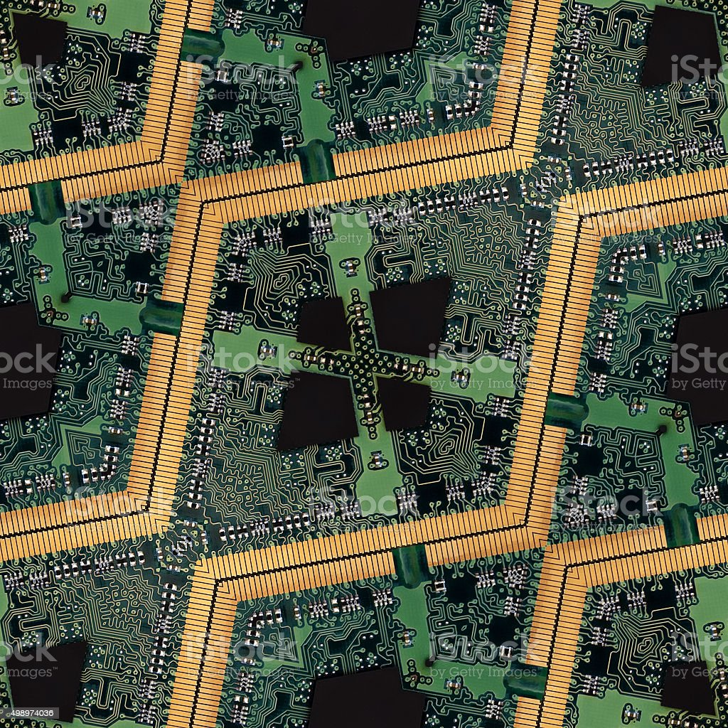 Computer or electronics technology abstract seamless background stock photo