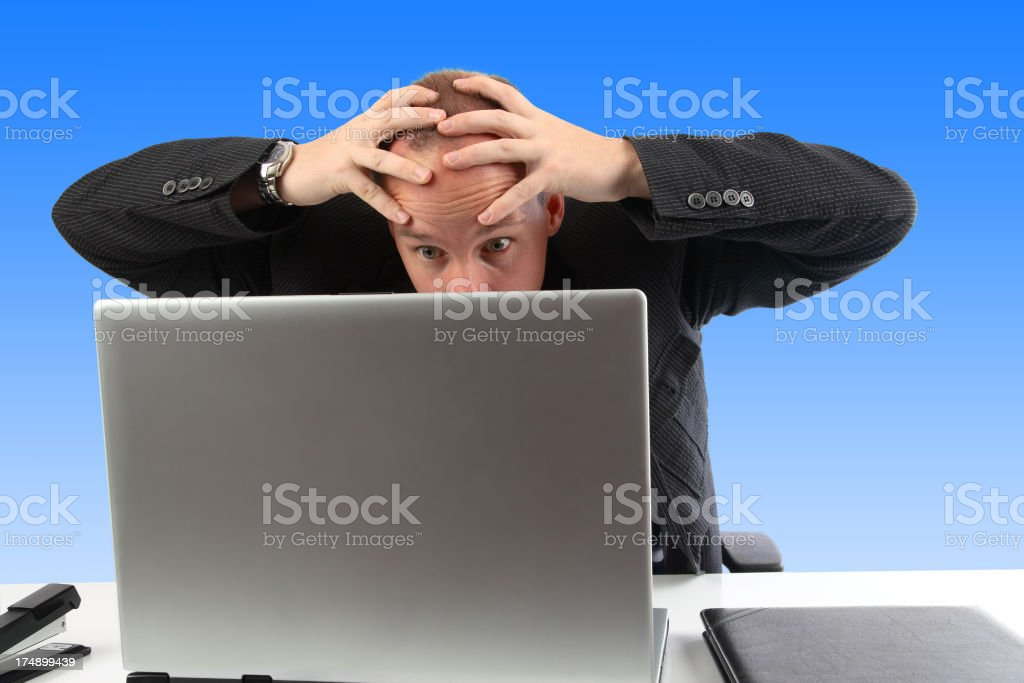 Computer Panic royalty-free stock photo