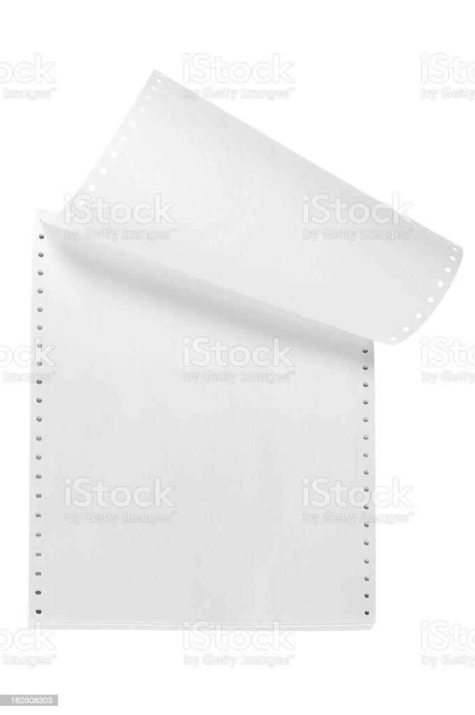 Computer paper stock photo