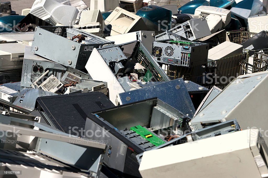 Computer parts recycling stock photo