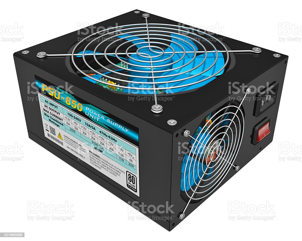 Computer PC AC power supply unit stock photo