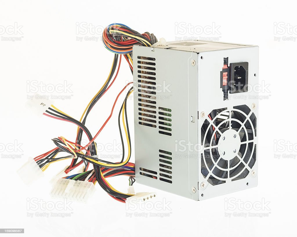 Computer PC power supply psu stock photo