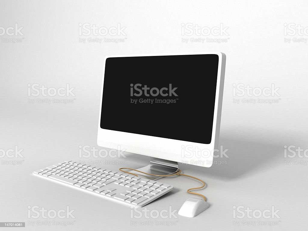 3D computer royalty-free stock photo