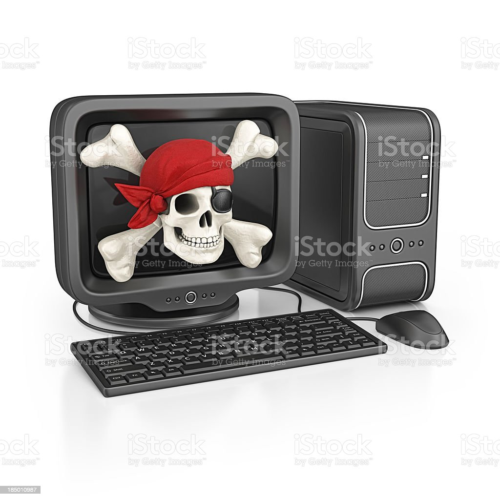 computer piracy royalty-free stock photo