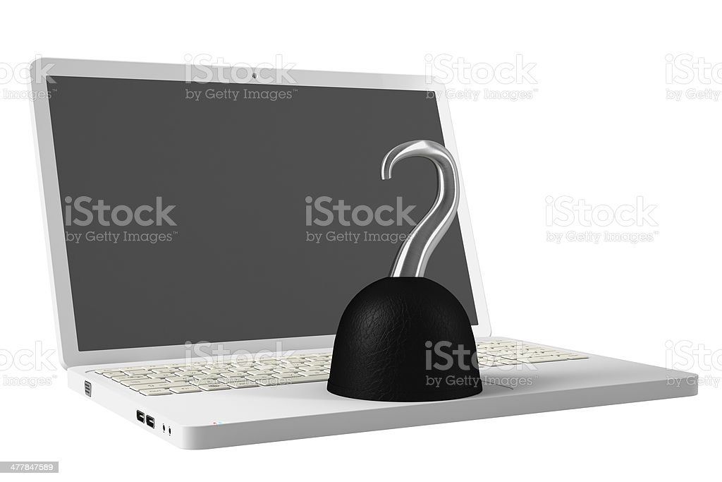 Computer Pirate royalty-free stock photo