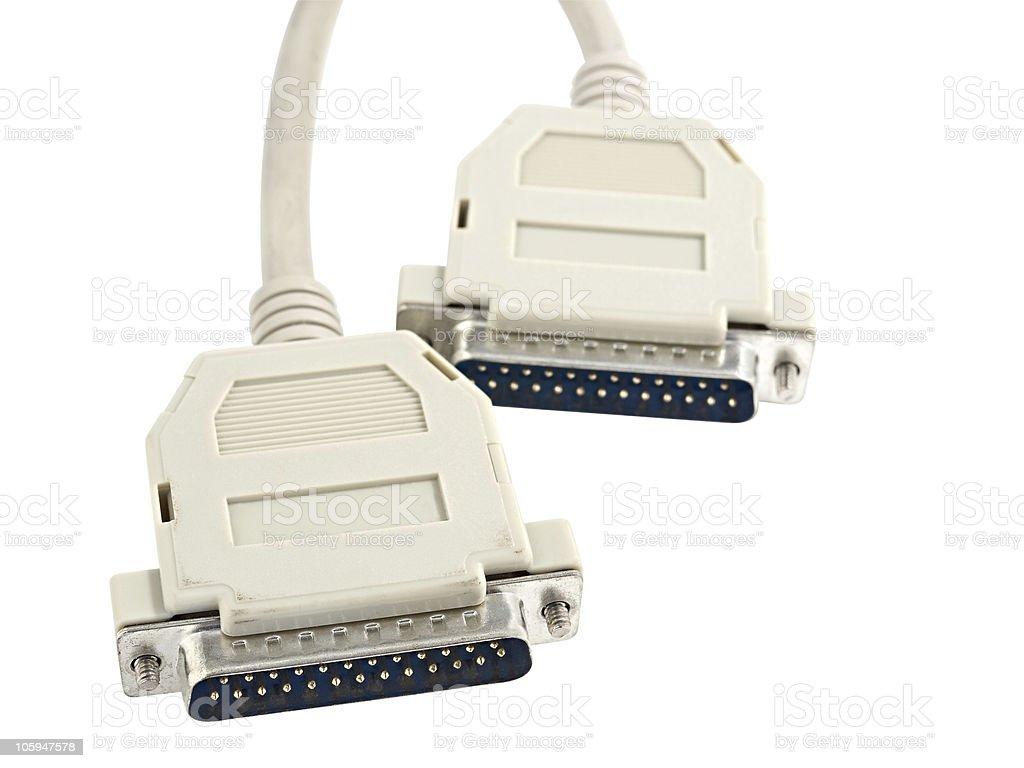 Ordenador conector macho foto de stock libre de derechos