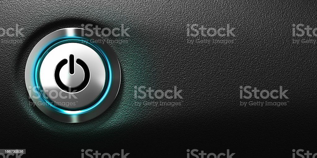 Computer Power Button stock photo